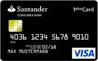 1 plus santamder kreditkarte