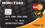 Money2go prepaid kreditkarte